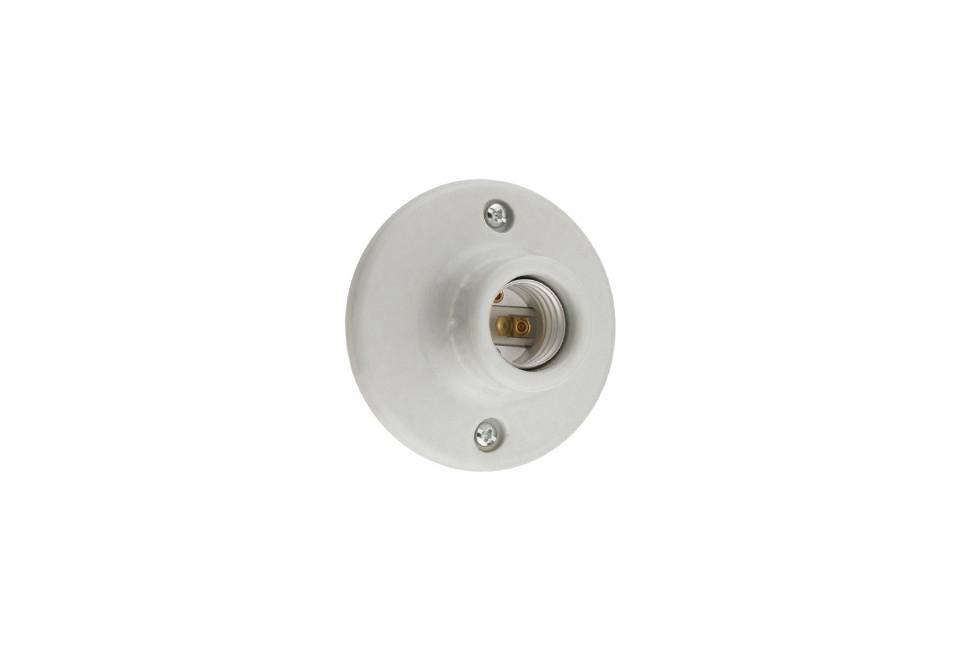 The most streamlined keyless light option is the Leviton 2-Pin Keyless Lamp Holder; $3.08 at MSC Direct.