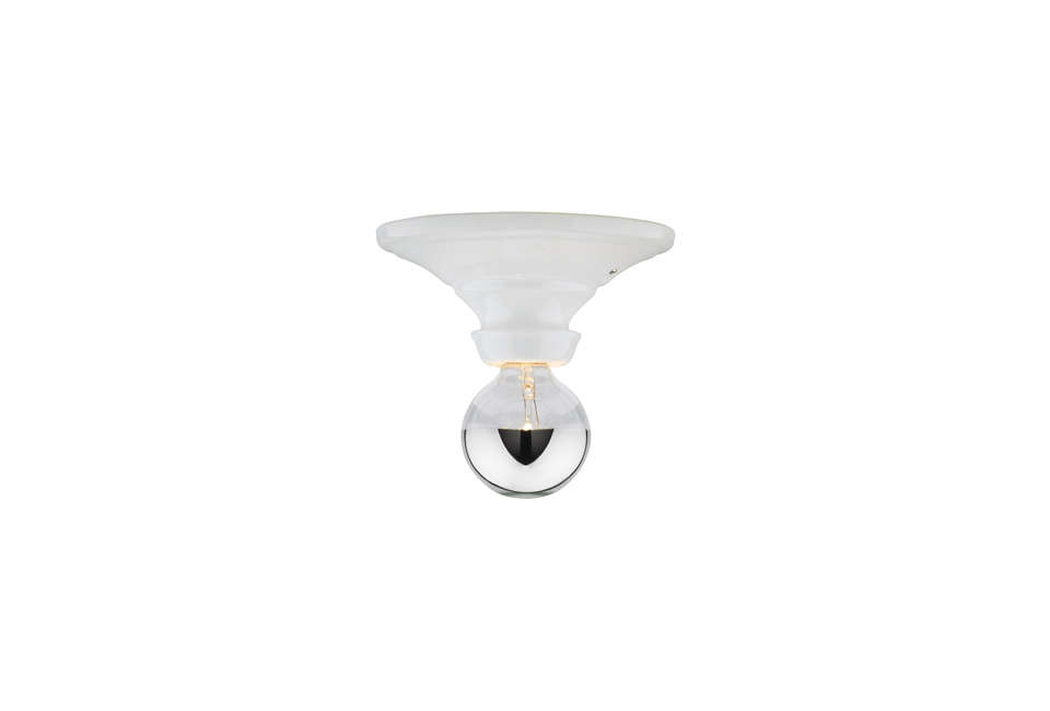 The Hannah Bare Bulb, shown in white,is $149 at Rejuvenation.