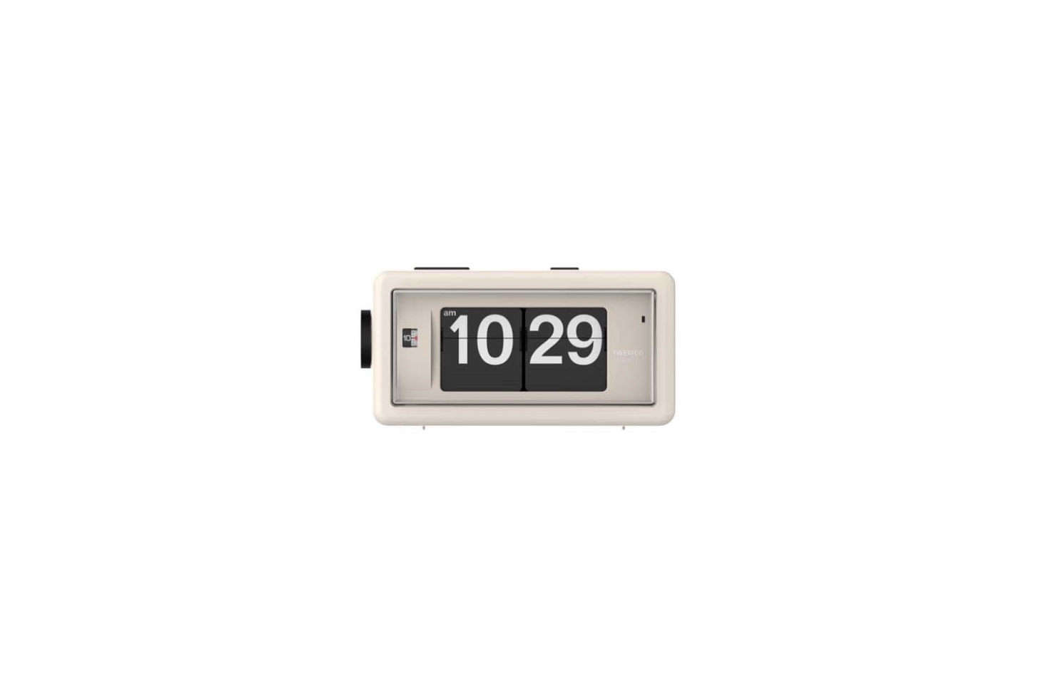 Again, a flip clock from TWEMCO, but with a more simplified design. The Alarm Flip Clock AL-30 comes in seven different colors including Beige (shown) for $9 at Time Will Flip.
