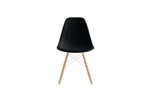 Good Eames Molded Plastic Side Chair With Wood Dowel Base