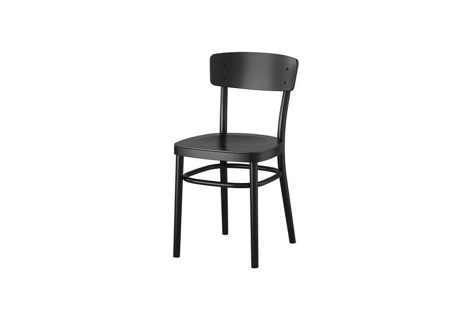 The Affordable Ikea Idolf Chair In Black Is $59.