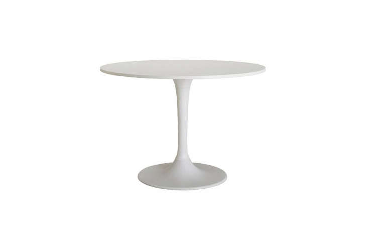 10 easy pieces simple white round dining tables remodelista for Ikea round pedestal table