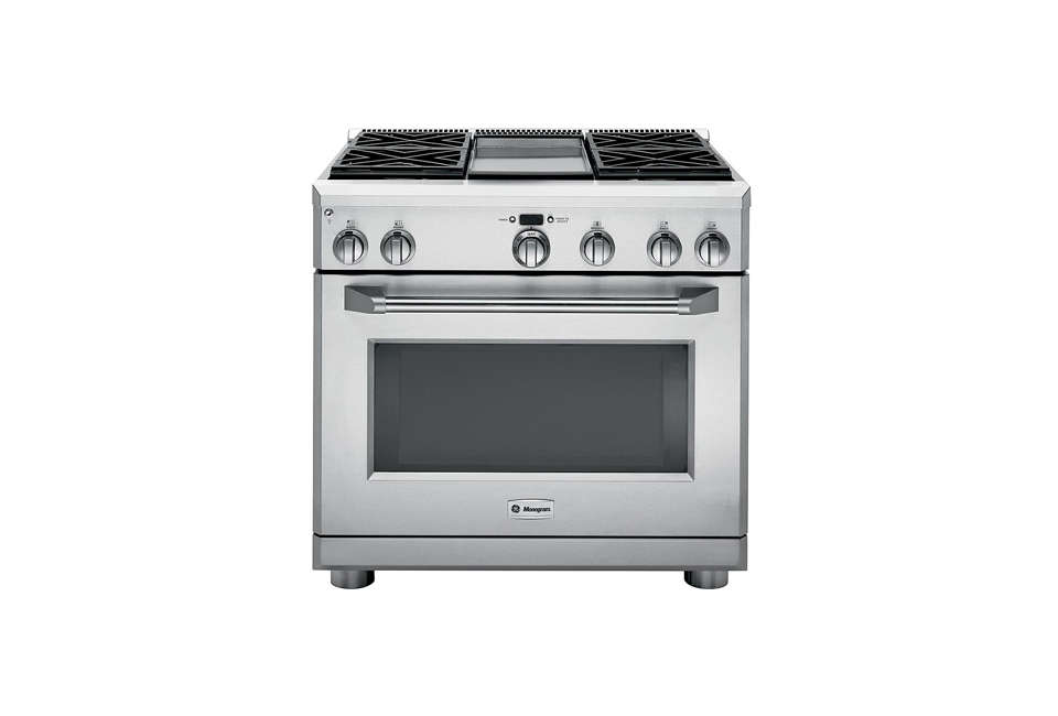 The Highly Rated Ge Monogram 36 Inch Stainless Steel Dual Fuel Professional Range Zdp366npss