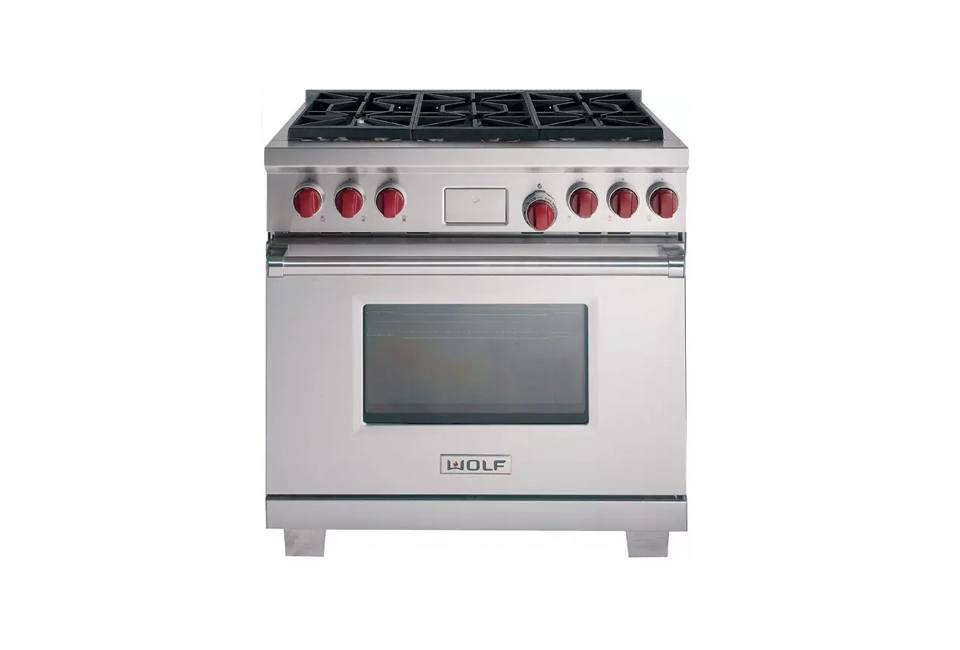 wolf 36 inch dual fuel range 13 american made appliances from countertop mixers to ranges to      rh   remodelista com