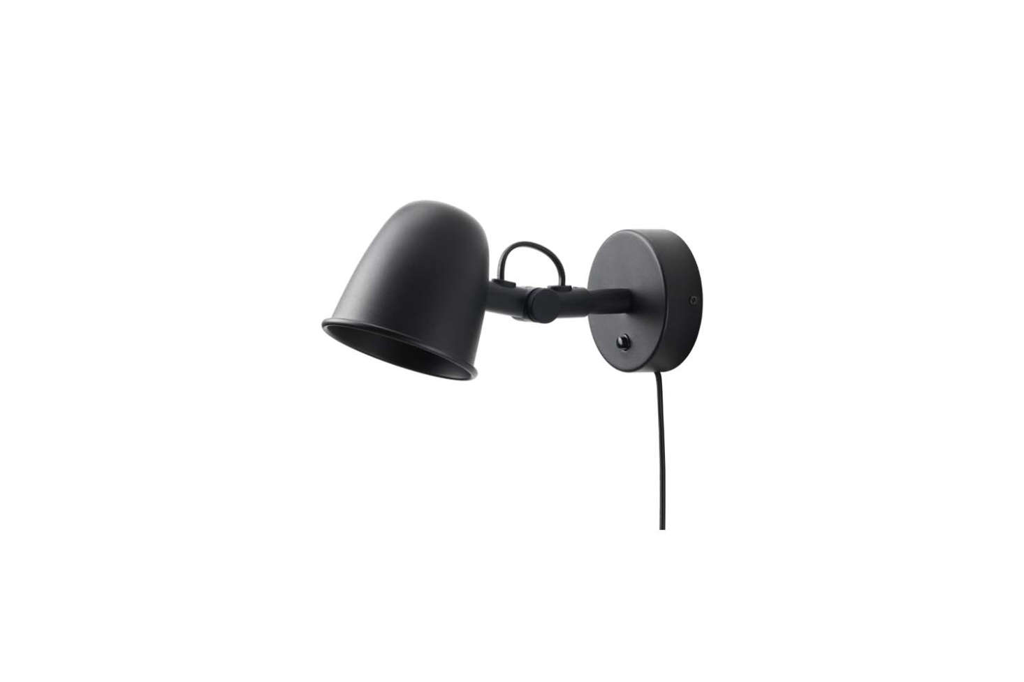 The affordable Skurup Wall Lamp in black is designed for an LED bulb; $.99 at IKEA.