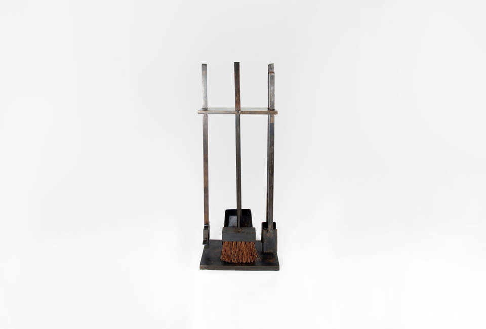 La Design Outfit Commune S Fireplace Tools Are Made Of Steel With A Bronze Oiled Finish