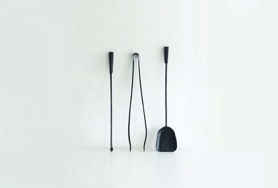 The Ferro Fuoco Wall Mounted Fireplace Tools Is A Set Of Three Hand