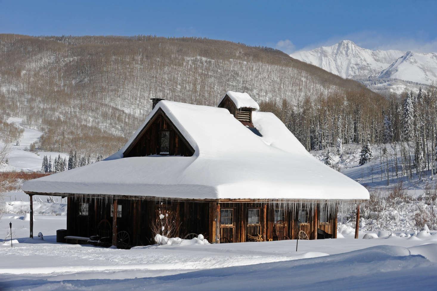 Hand-Hewn Cabins at Dunton Hot Springs in Colorado