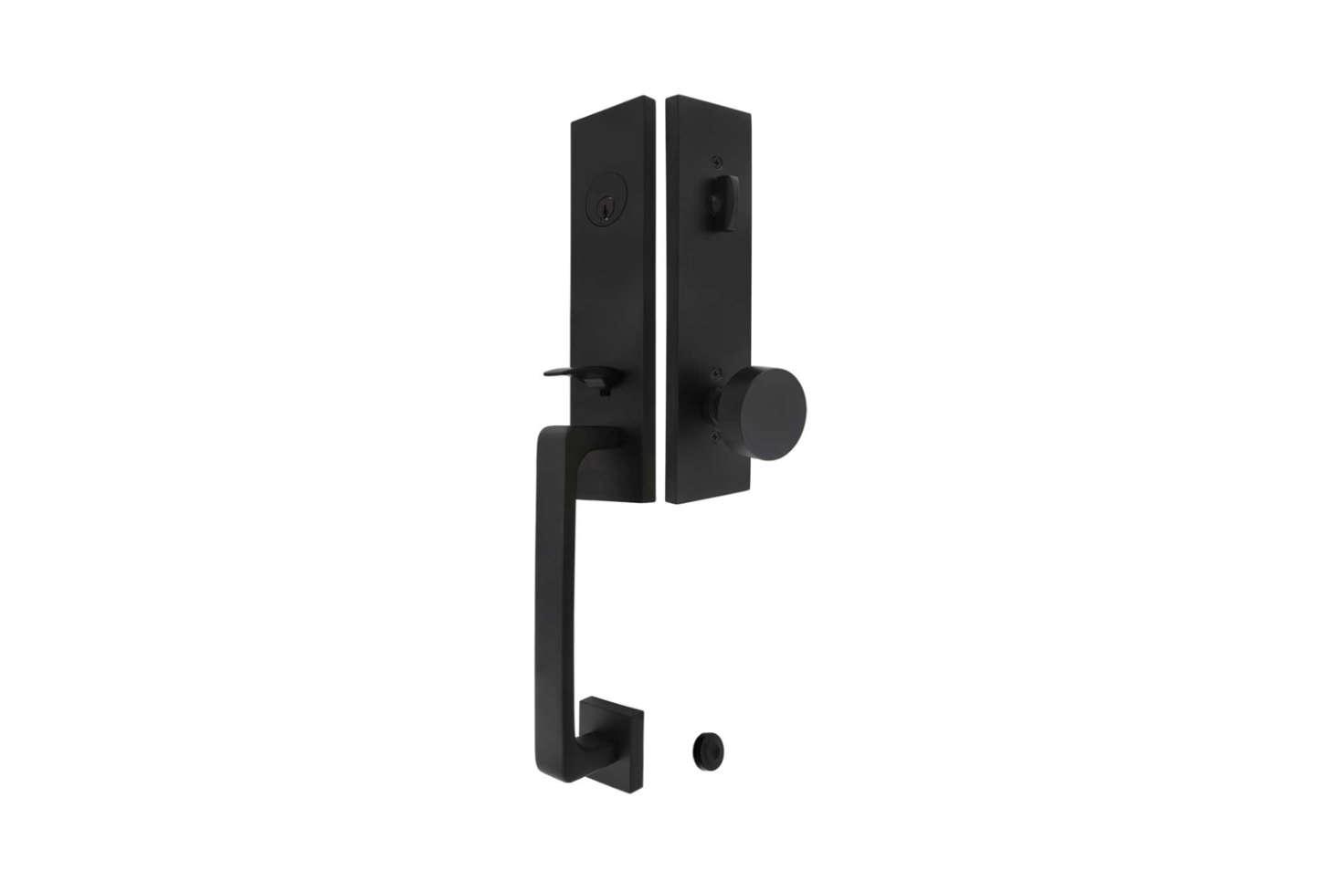 The House of Antique Hardware Davos Entry Door Set shown in matte black is $3src=