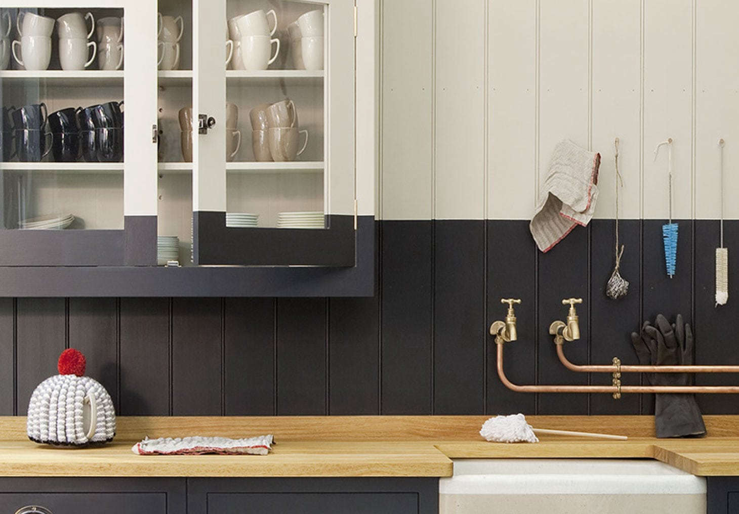 The British Standard line includes glazed wall cabinets as well.