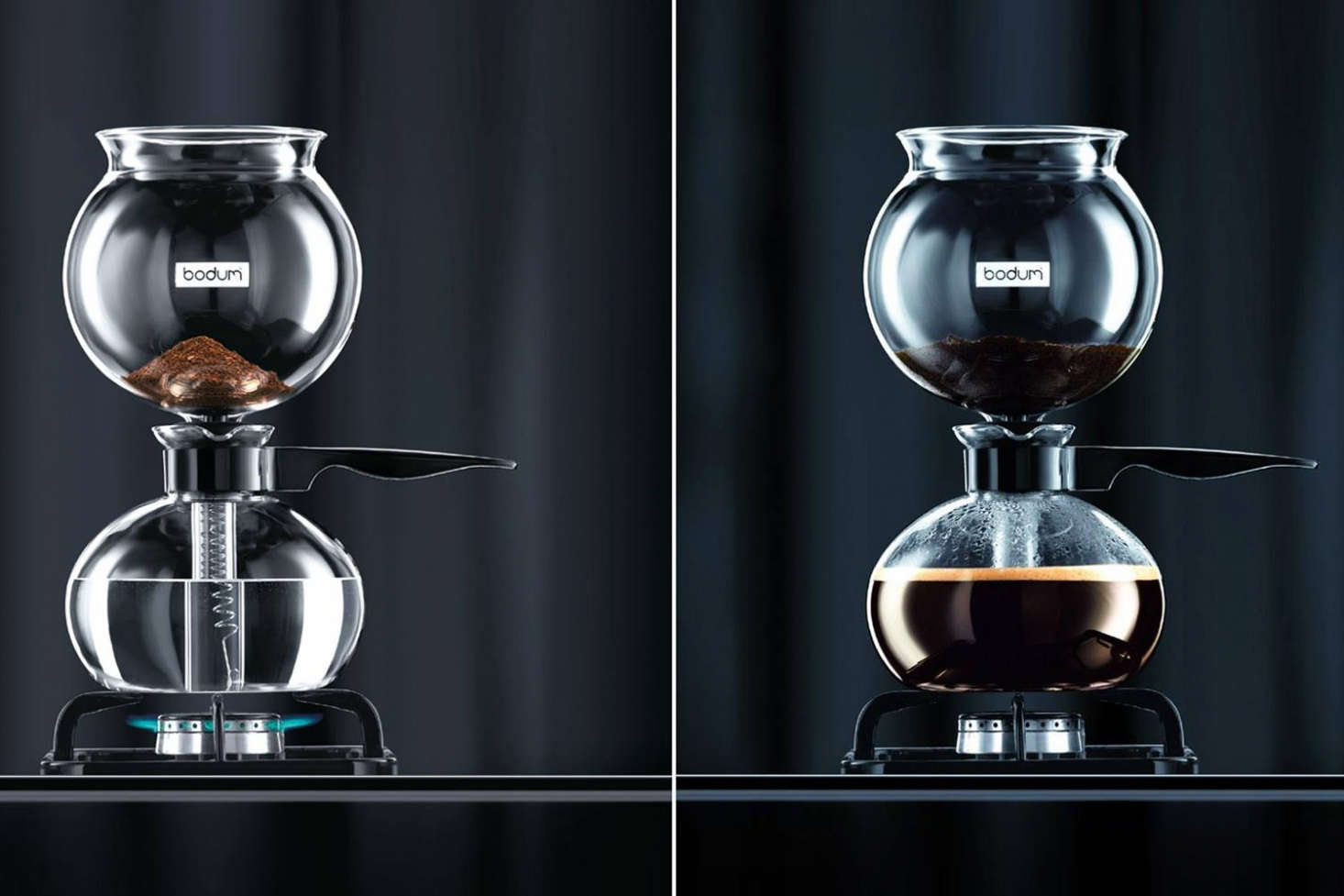 Bodum S Pebo Vacuum Coffee Maker On The Stovetop It Comes With A Scoop And