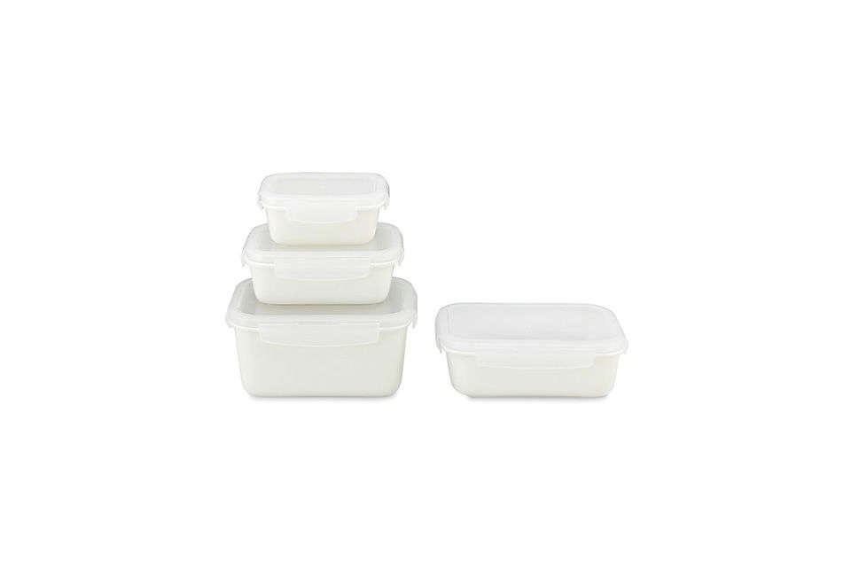 Neoflam Porcelain Storage Containers In White
