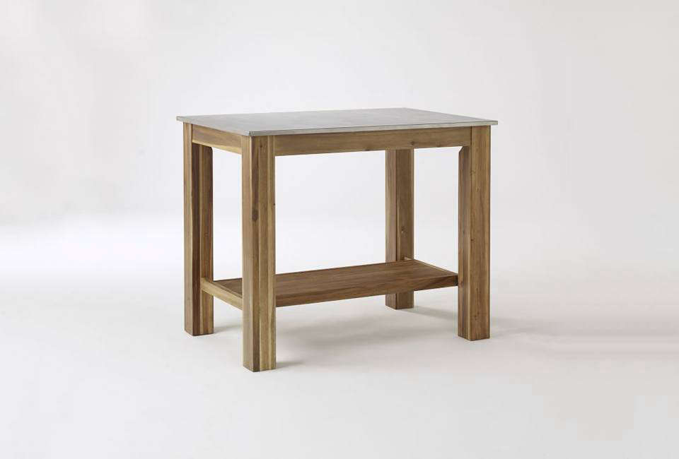 The Rustic Kitchen Island With A Steel Top Is Currently On Sale At $419 At  West