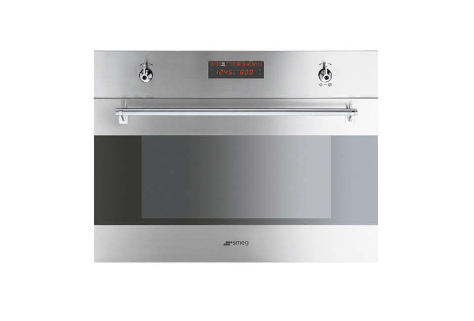 Smeg classic 24 inch built in microwave speed oven for Built in microwave oven 24 inch