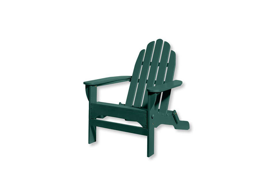 What We Now Consider The Classic Adirondack Chair Is Constructed With Many Slats And A Rounded
