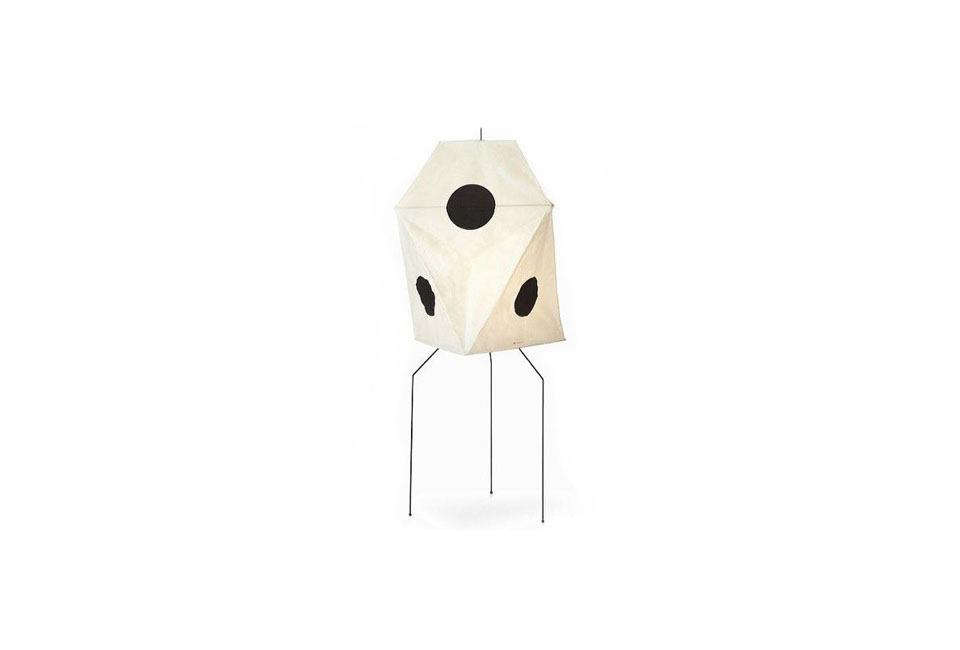 The Noguchi Floor Lamp Model UF3-Q, 57 inches tall and