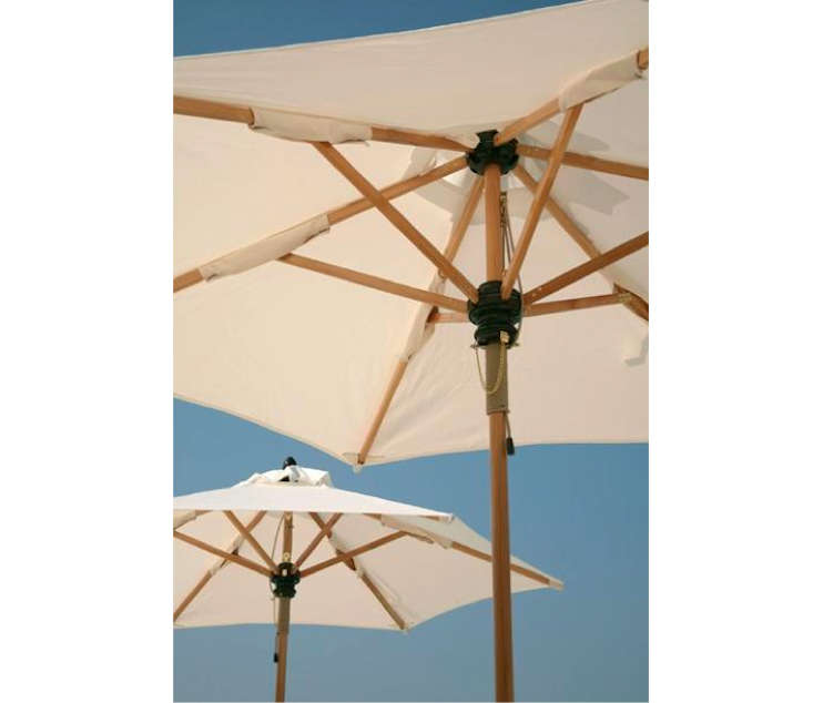 Epic Above From UK outdoor furnishings pany Barlow Tyrie the Verona Parasol is available in a circular or rectangular style for directly through Barlow