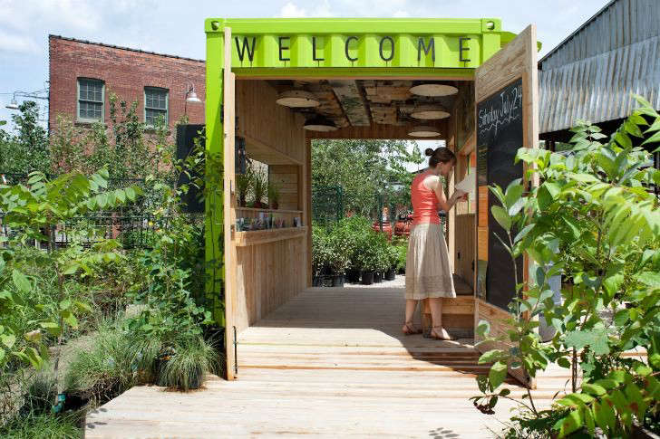 Evergreen Brickworks, An Environmental Community Center In Toronto, Has A  Welcome Hut Made From