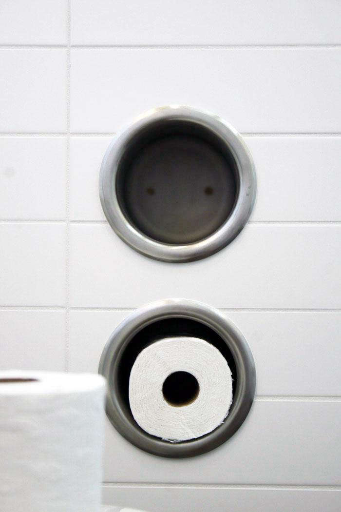 Design Sleuth: Recessed Toilet Roll Holder from a Surprising Source ...