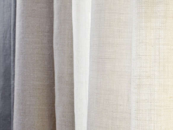 Belgian Textured Linen Drapery Shale