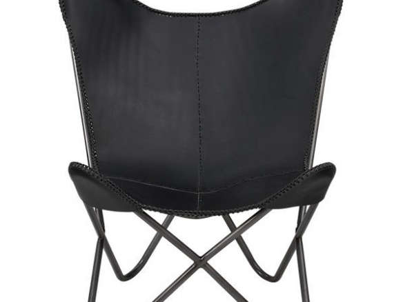 Fabulous 1938 Black Leather Butterfly Chair Machost Co Dining Chair Design Ideas Machostcouk