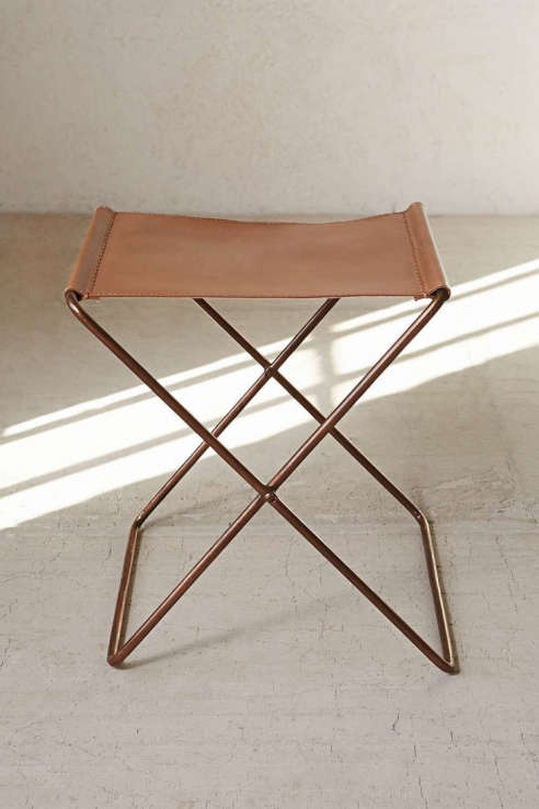 4040 Locust Leather Sling Stool