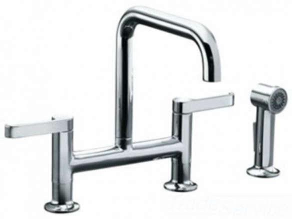 Kohler K-6126-4-CP Torq Deck-Mount Kitchen Faucet Spray ...