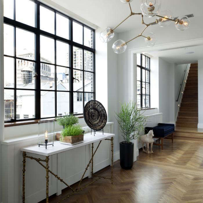 Industrial Kitchen Windows: A New York Flat With A Glamorous View