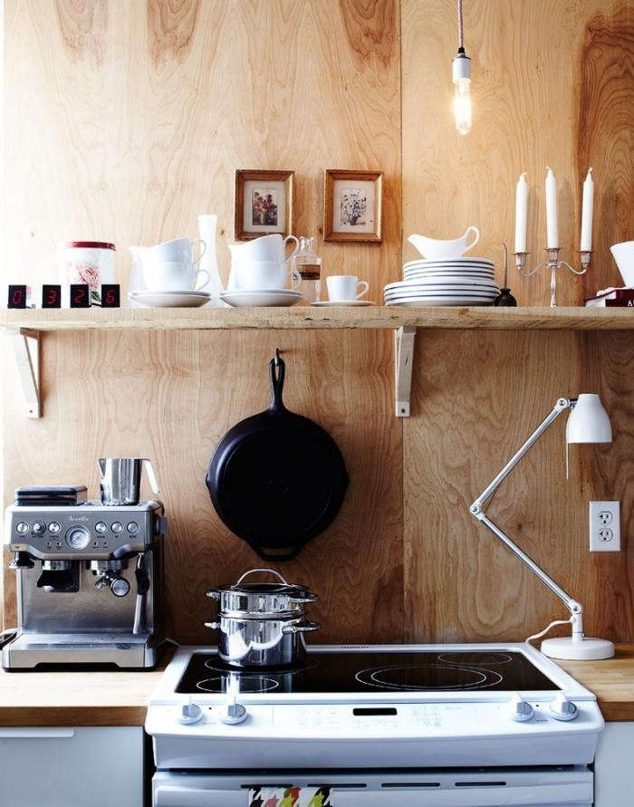 Toronto-based interiors stylist Jennifer Hannotte created a Scandinavian cottage-style kitchen on a limited budget using plywood. See Steal This Look: Toronto Kitchen for tips on how to re-create the look. Photograph by Angus Fergusson.