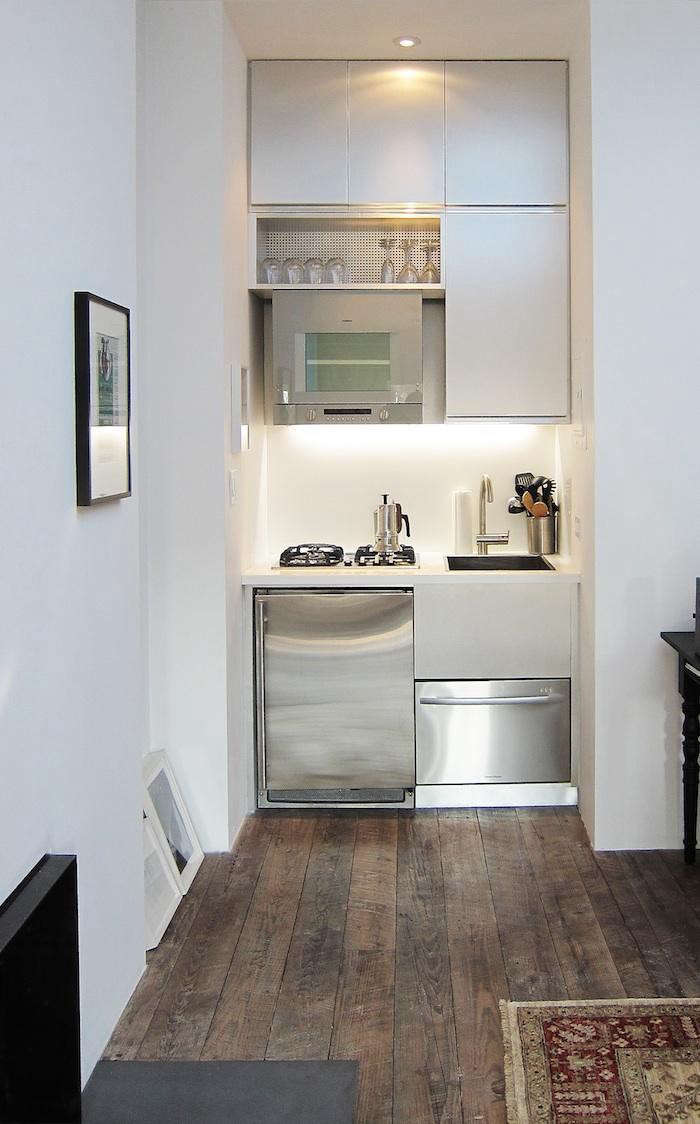 A tiny kitchen by Mesh Architectures, a member of the Remodelista Architect  and Designer Directory