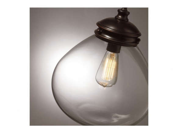 Roth Edison 12 In W Bronze Pendant Light