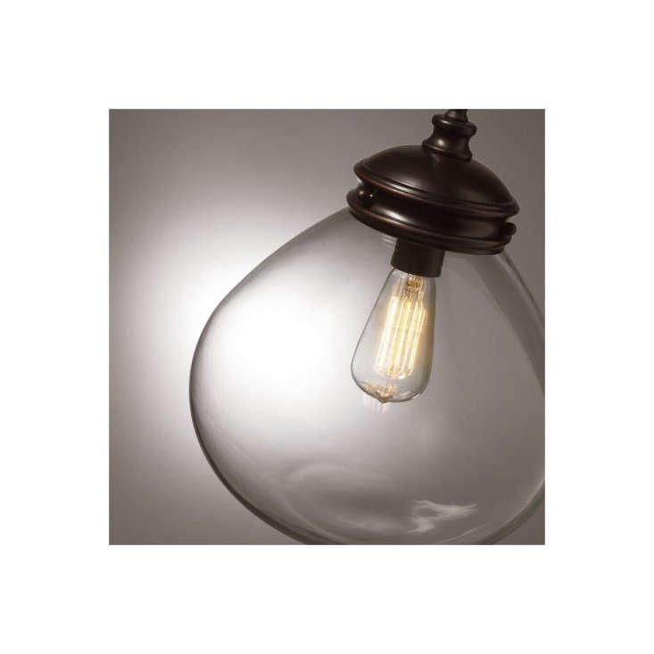 Allen roth edison 12 in w bronze pendant light for Allen roth bathroom light fixtures bronze