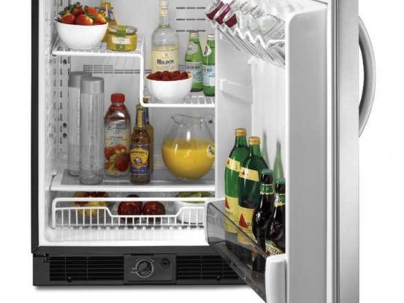 kitchenaid architect ii 5 7 cu ft compact ss refrigerator