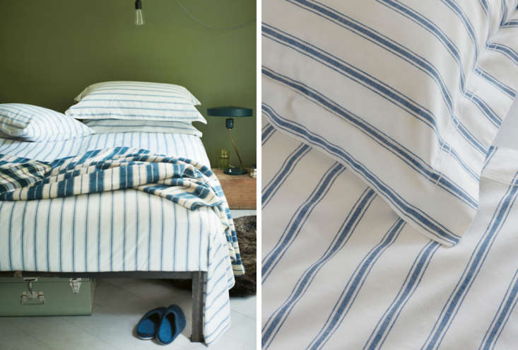 Great Aegean Striped Sheet Set Toast Bedding