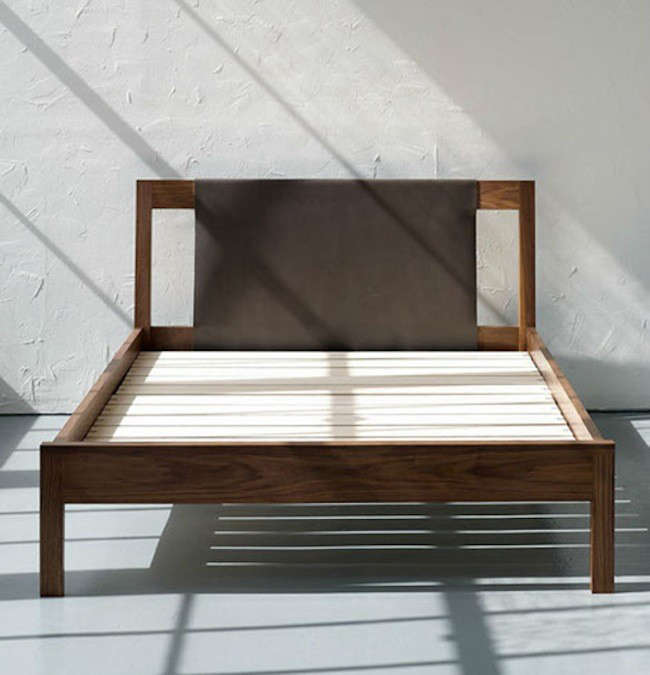 Awesome It us made in full queen and king sizes in American walnut or rift white oak with maple bed