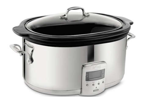 All Clad 99009 Polished Stainless Steel 6 5 Quart Slow Cooker
