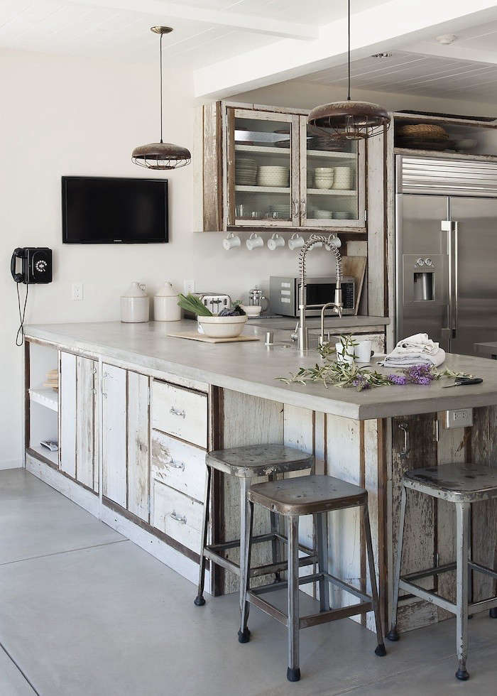 Concrete Countertops And Floors In Amanda Pays LA Kitchen