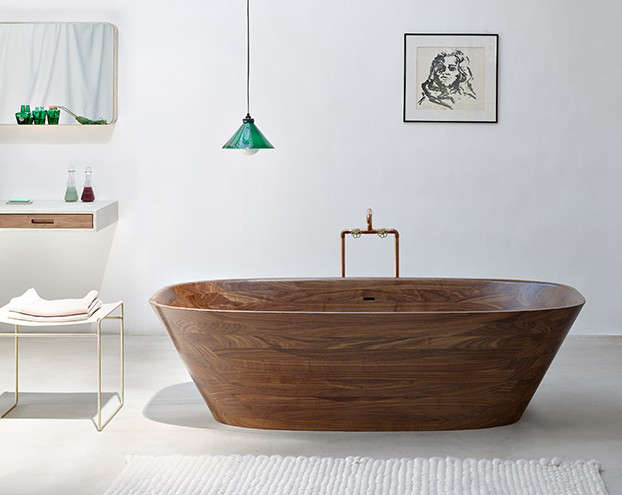 Artful Bathing: The Ultimate Wood Tub and Sink - Remodelista
