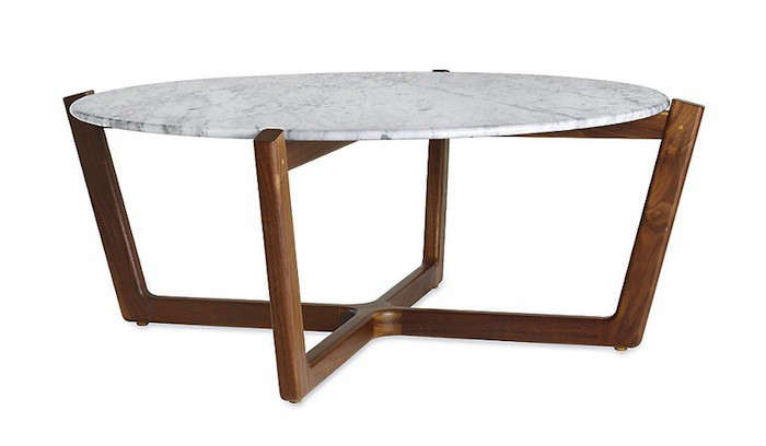 Merveilleux Above: The Atlas Coffee Table With An Arabescato (marble) Top By NYC  Designer Brad Ascalon Features A Solid Base Made From North American Black  Walnut; ...