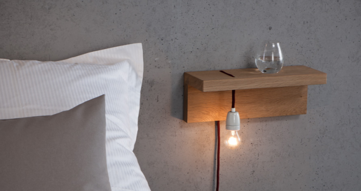 Wall Mounted Bedside Table Lamps : 5 Favorites: Bedside Shelves (in Lieu of Tables) - Remodelista