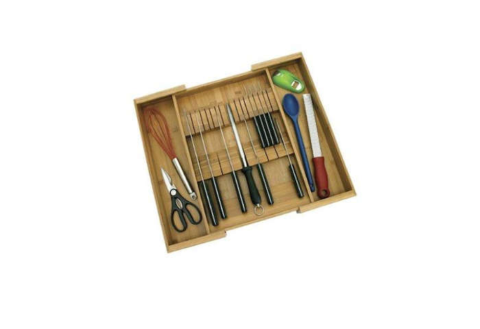 The Bamboo Expandable Knife Organizer By Lipper International Stores  Kitchen Knives And Utensils; $12.37 From