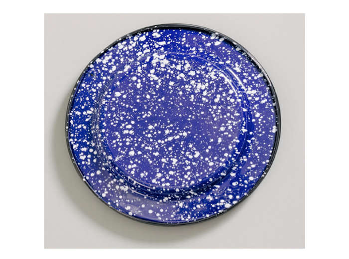above a set of four enamel plates shown here in cobalt with white is 80
