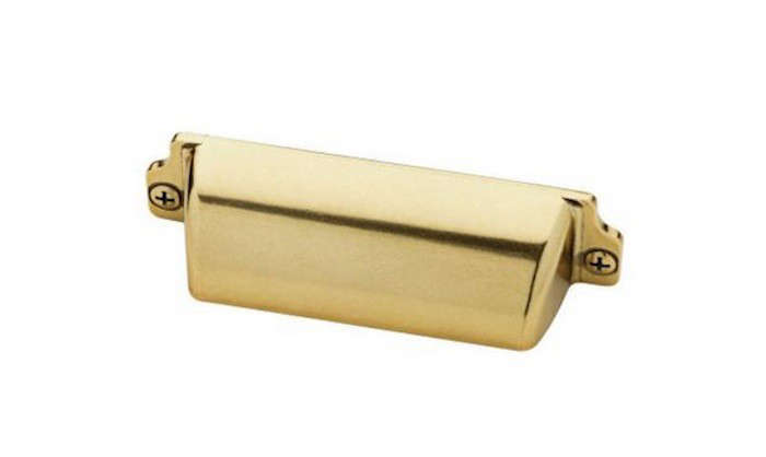 brass awning cup cabinet hardware pull