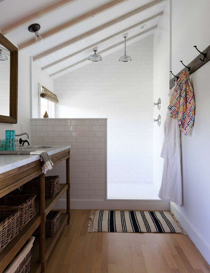Steal This Look A Masculine Beach House Bathroom Remodelista - Complete bathroom remodel sets