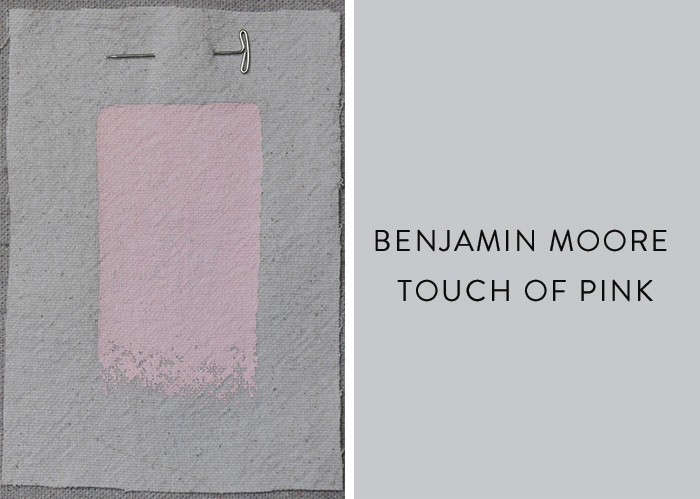 Expert advice the 10 best pink paints remodelista Touch of grey benjamin moore