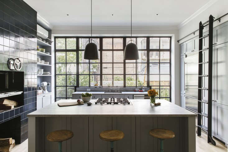 Amazing Above: Itu0027s There, But You Donu0027t See It: In Lieu Of A Bulky Ceiling Mounted  Hood, This Townhouse Kitchen Has A Faber Scirocco Downdraft Vent Concealed  At ...