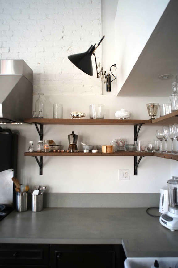 ... Sconces In A Kitchen By Mark Lewis; For Something Similar, Consider The  Industrial Scissor Articulating Wall Lamp ($175) From Long Made Co. On  Etsy, ...