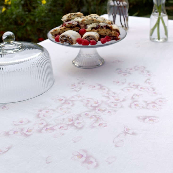 Above: For His Blossom Tablecloth, Gledhill Was Inspired By The Look Of  Scattered Flowers And Recreated The Look By U201cprinting Painted Cherry Blossom  Flowers ...