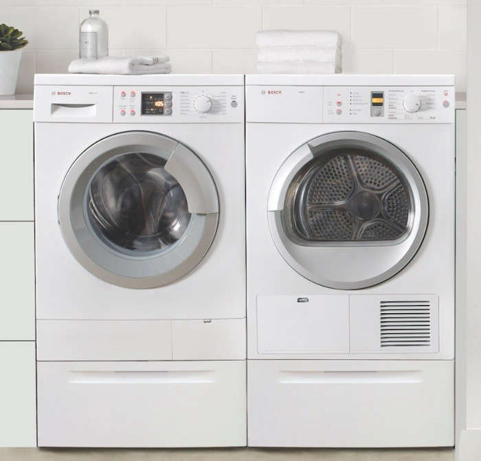Little giants compact washers and dryers remodelista - Small space washing machines set ...