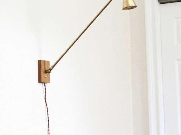 allied maker 39 s brass oak wall lamp. Black Bedroom Furniture Sets. Home Design Ideas